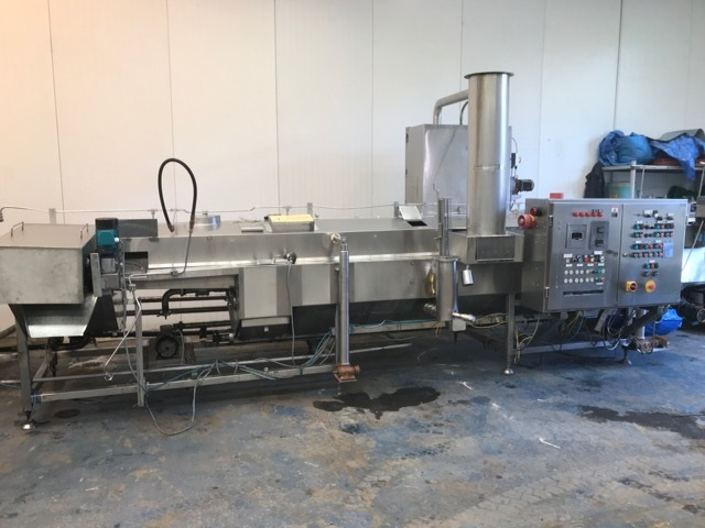 Continuous Fryer with Teflon Infeed
