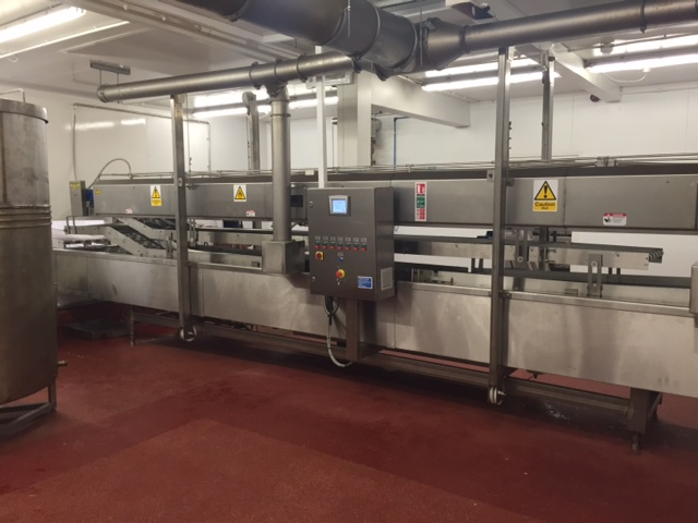 Bulldog 5200 600 thermal oil fryer fitted in afactory in the USA