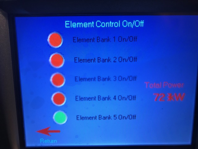 Bulldog electric element control panel